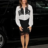 Jennifer Garner wore black and white for the NYC screening of The Odd Life of Timothy Green.