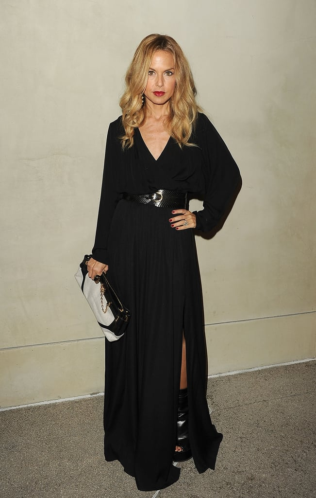 Rachel Zoe slipped into a slinky dress for a dinner with Armani and Vanity Fair in LA.