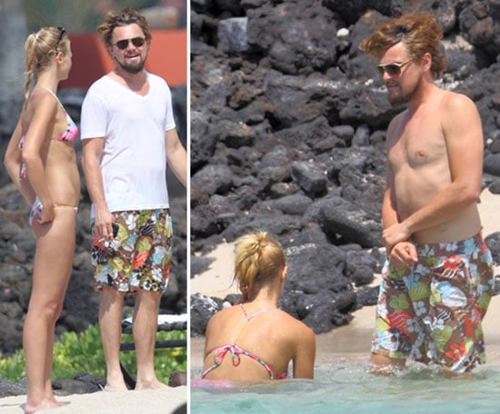Leo DiCaprio Goes Shirtless to Celebrate Fourth With Bikini-Clad Erin