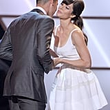 Jessica Biel congratulated Jeremy Lin on his win for the breakout athlete of the year award.