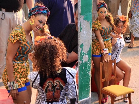 "Photos of Alicia Keys And Beyonce Knowles Filming Their Video For ""Put It In A Love Song"" Together in Rio"
