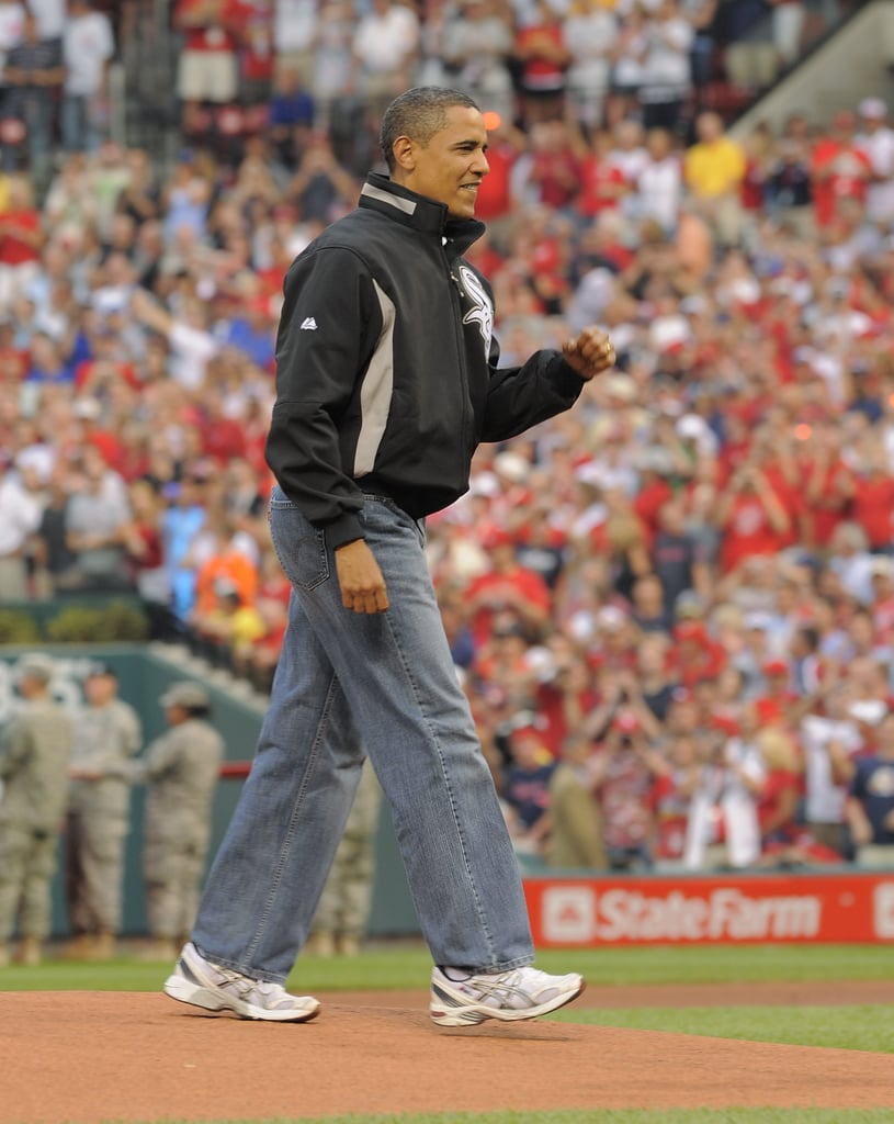 Barack Obama at the 80th MLB All-Star Game