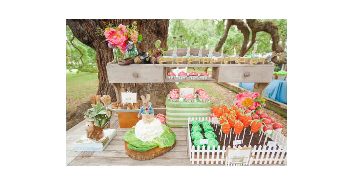 Dessert Table Peter Rabbit First Birthday Party