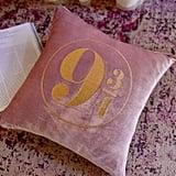 Platform 9 3/4 Velvet Throw Pillow