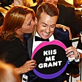 Grant Denyer Gets a Kiss