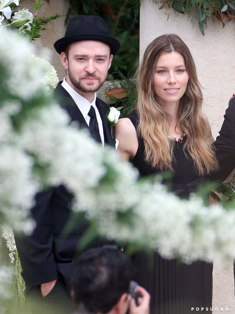 Justin Timberlake and Jessica Biel attended Chris Kirkpatrick's wedding.