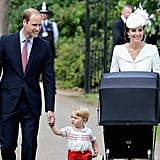 Prince William and Kate were a picture-perfect family on their way to St. Mary Magdalene Church for Charlotte's July christening ceremony.