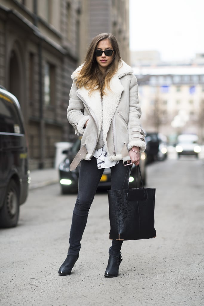 Bundling up looks better in shearling, doesn't it? Source: Le 21ème | Adam Katz Sinding