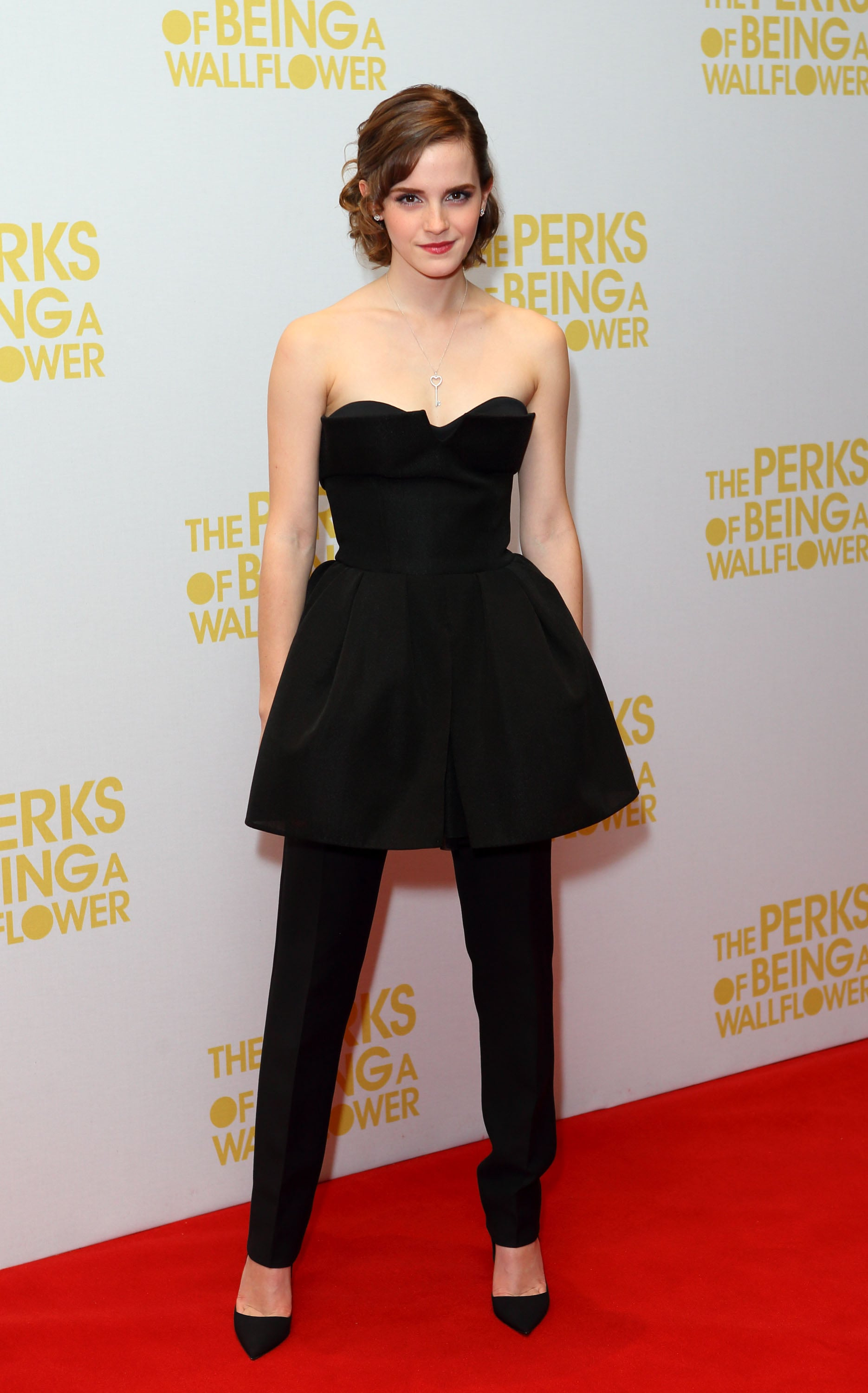 Emma Watson in Christian Dior Couture at 2012 The Perks of Being a Wallflower London Premiere