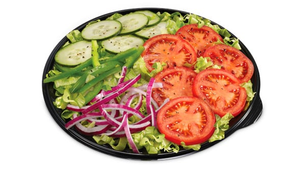 Image result for Black Bean Soup and Veggie Delight Salad from subway