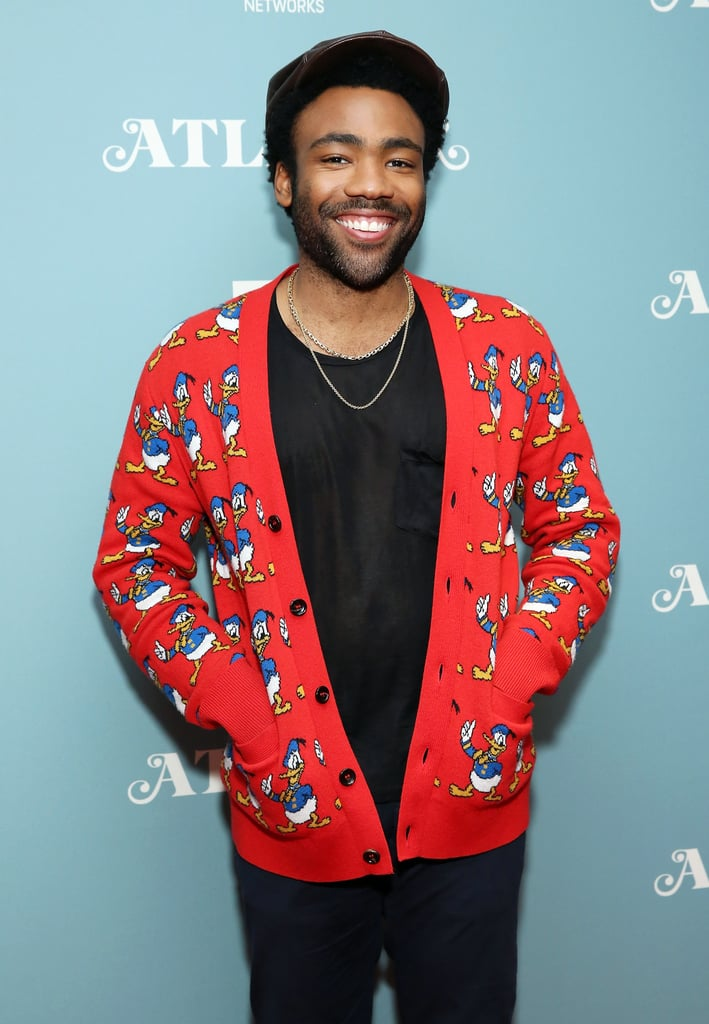 15ff3d57808 When He Wore This Shiny Shirt and Donald Duck Cardigan Combo