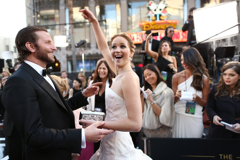 Jennifer Lawrence and Bradley Cooper were on the red carpet at the Oscars 2013.
