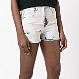 Balmain Bleached Lace-Up Denim Shorts