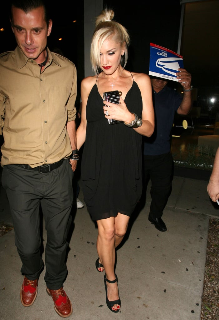 Gwen Stefani and Gavin Rossdale celebrated their 10-year anniversary on Saturday in LA.