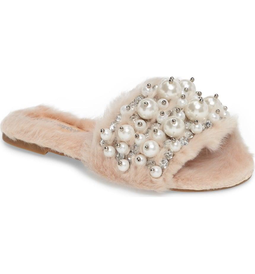 f1ed05d1489 Jeffrey Campbell Women s Facil Embellished Slide Sandal