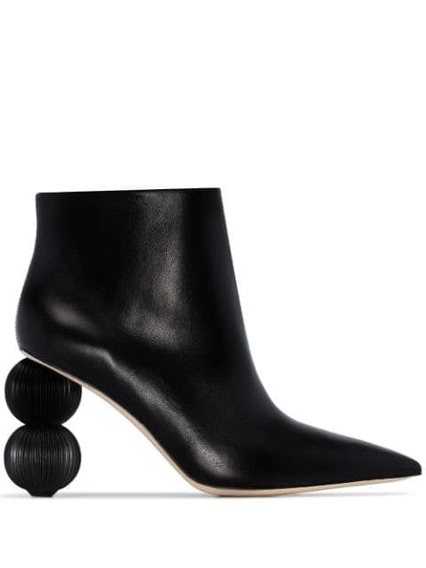 Cult Gaia Black Cam 100 Round Heel Boots
