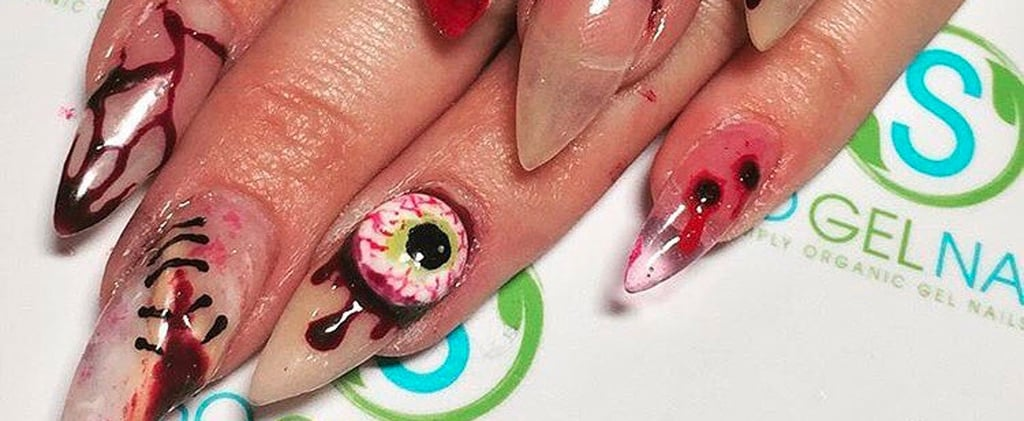 20 Gory Nail Art Ideas That Will Even Make Halloween-Lovers Squirm