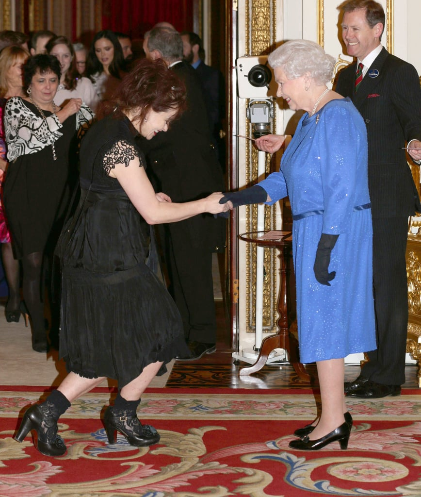 The Queen and Helena Bonham-­Carter