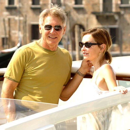 Harrison Ford and Calista Flockhart relaxed on a boat during the 2005 festival.