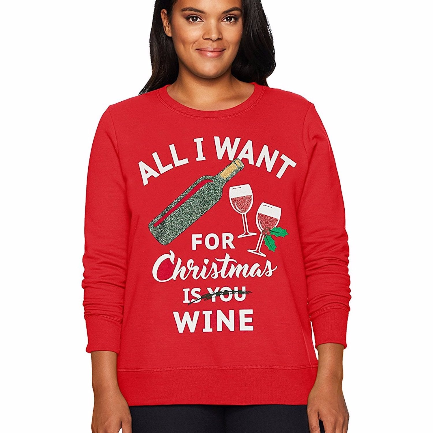 just my size plus size ugly christmas sweatshirt christmas sweaters on amazon popsugar family photo 7