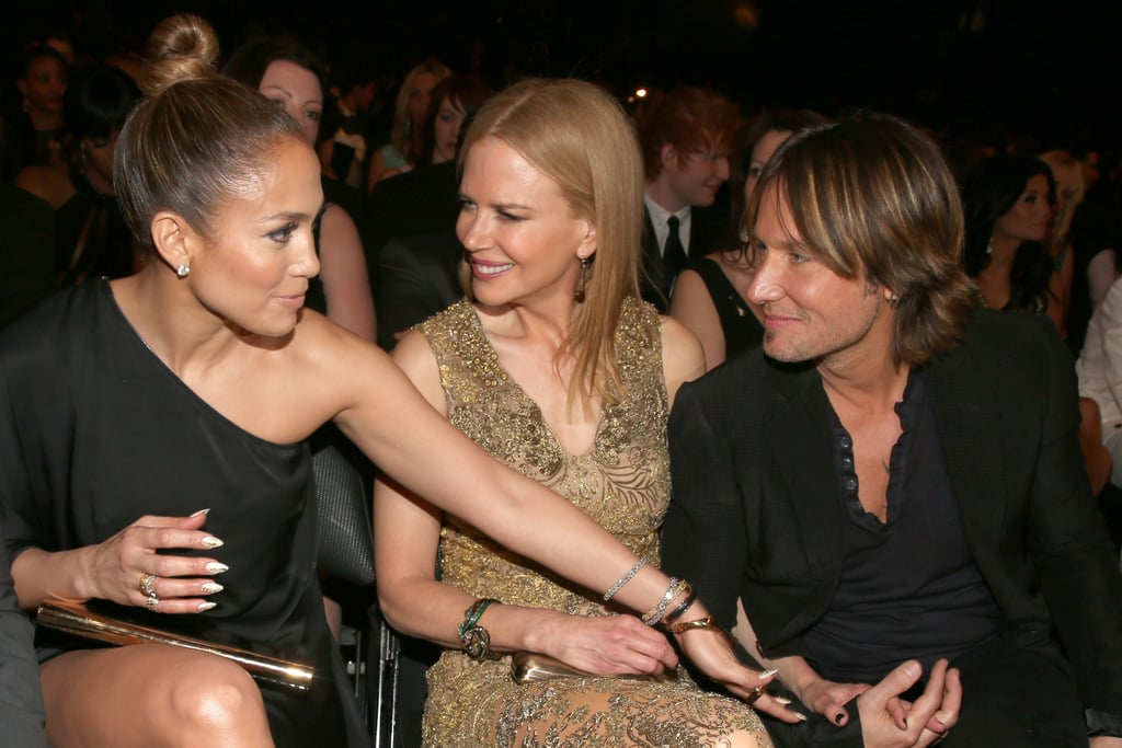 Jennifer Lopez chatted up Nicole Kidman and Keith Urban.