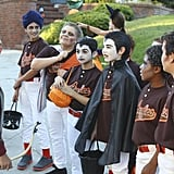 Back in the Game Danny (Griffin Gluck) and his team go out trick-or-treating a squad of ghouls.