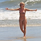 Bikini-clad Julianne Hough looked happy to be at the beach in NC.