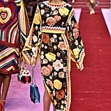 While Dolce & Gabbana has dressed Melania in more simple, muted pieces, we have a feeling she'll be attracted to the vibrant colors in this floral dress — and Melania seems to love an exaggerated sleeve.
