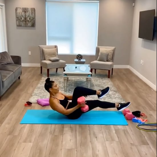 Jeanette Jenkins Abs and Arms Workout Using Dumbbells
