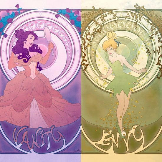 Disney Princesses as Seven Deadly Sins Art