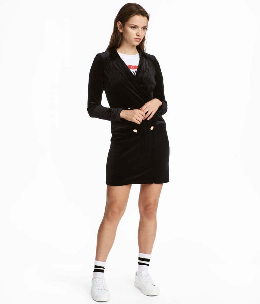H&M Velour Jacket Dress
