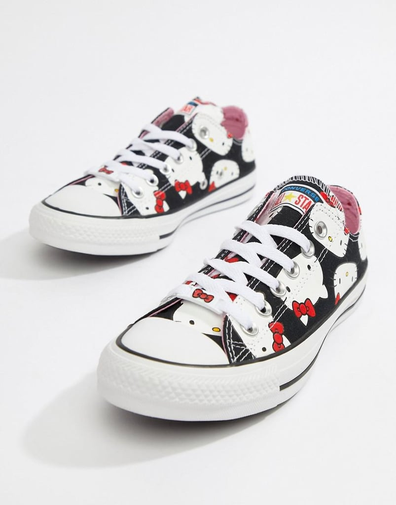 92b0ab91113706 Converse X Hello Kitty Ox Trainers