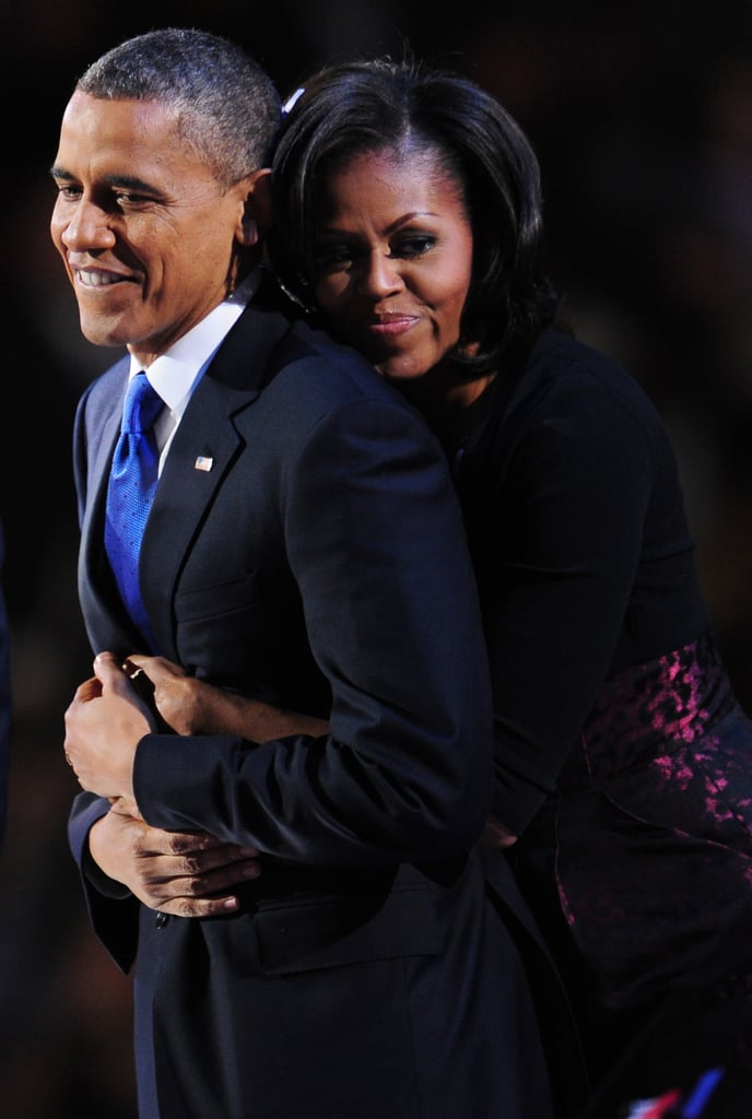 Michelle and Barack enjoyed the moment after his reelection.