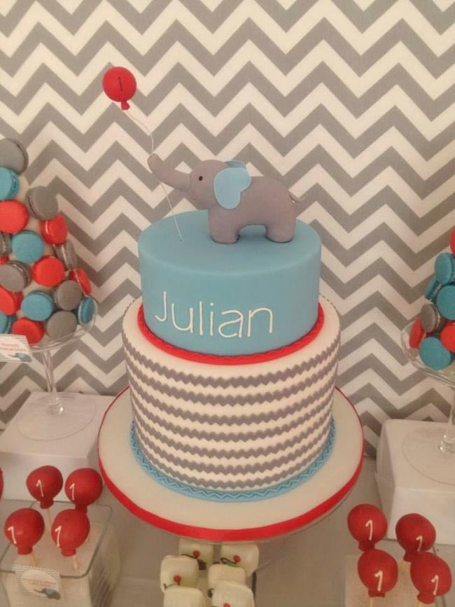 An Elephant and Balloon Cake