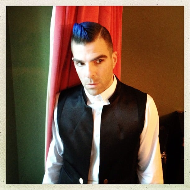 Zachary Quinto brought his inner punk out for the Met Gala.  Source: Instagram user zacharyquinto
