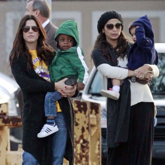 Sandra Bullock With Camila Alves and Their Kids