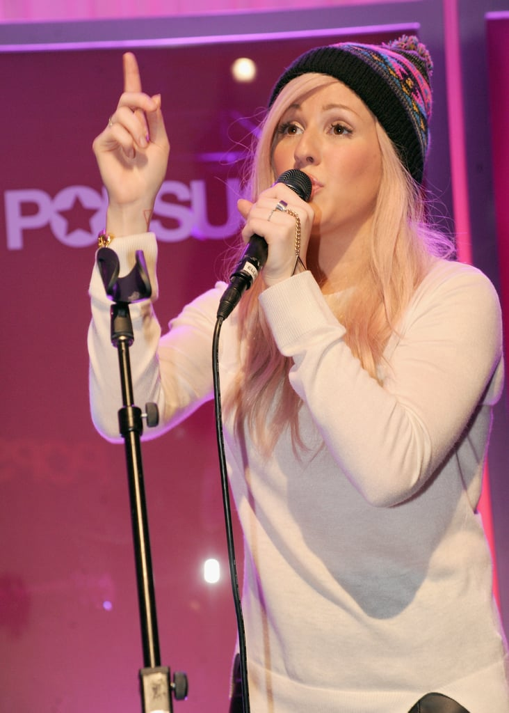 Ellie Goulding performed one of the songs off of her new album.