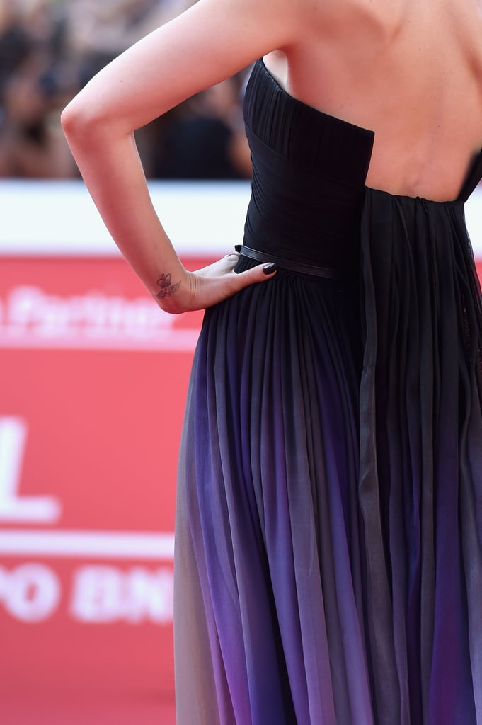 Lily Matched Her Nails to the Bodice of Her Dress