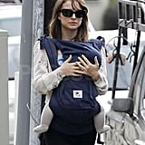 Natalie Portman carrying Aleph.