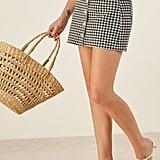 Reformation Bianca Denim Miniskirt
