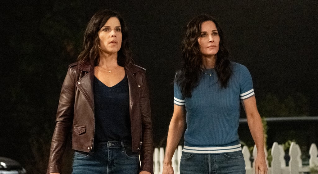 Neve Campbell and Courteney Cox in Scream