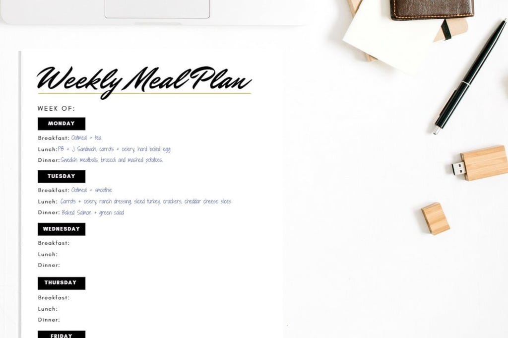 Printable Meal-Planning Sheets