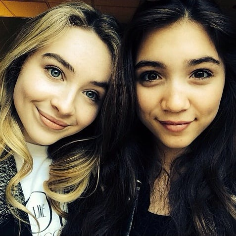 Rowan Blanchard and Sabrina Caprenter Instagrams
