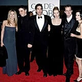 Jennifer Aniston, Matt LeBlanc, David Schwimmer, Lisa Kudrow, Matthew Perry, and Courteney Cox posed together at the 1998 show.