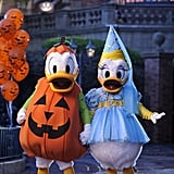 Donald and Daisy Duck are dressed for the occasion.