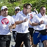 While running a Sport Relief mile in Brazil in March 2012, Harry finished in a Prince William mask given to him by a member of the crowd.