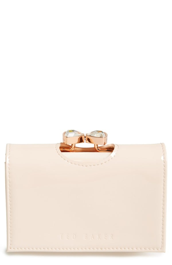 Ted Baker London Small Bow Crystal Kiss Lock Wallet ($129)
