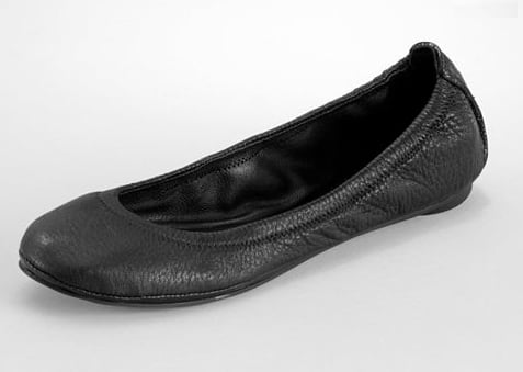 A simple black flat — with a cool pebbled texture, no less — is a no-brainer as a comfy-chic sole-mate. Tory Burch Eddie Ballet Flat ($178)