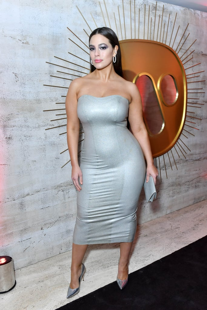 "Ashley Graham's Sexy Silver Dress Will Have You Screaming, ""Hell Yes — Work It, Girl!"""