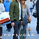 Jennifer Aniston and Justin Theroux held hands in NYC.
